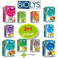 2+1 gratuit sur tout l'assortiment des tisanes BIOLYS dans votre pharmacie préférée !